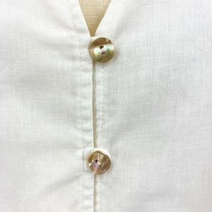 Orvis Tops - Orvis White Hemp Long Sleeve Button Down Top